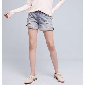 Pilcro& the letterPress hypen Distressed Shorts